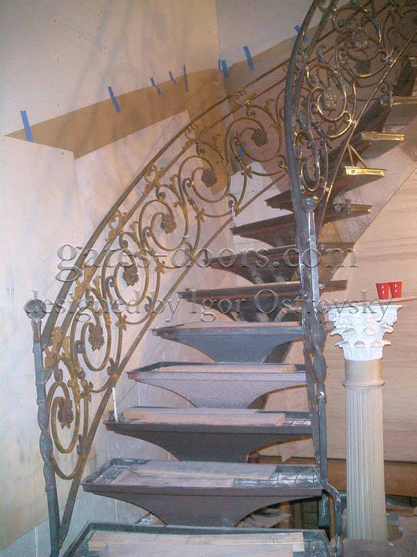 Custom Interior Iron Stair Amp Balcony Railings In Brooklyn